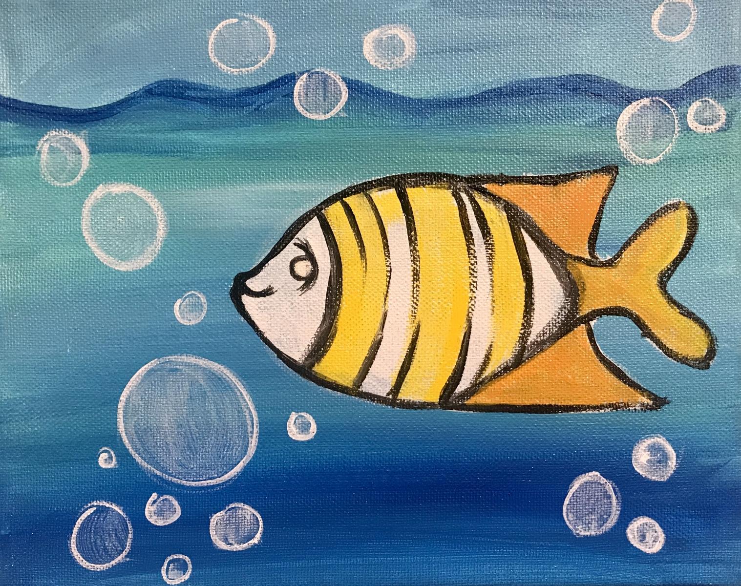 Fish Kid's Painting