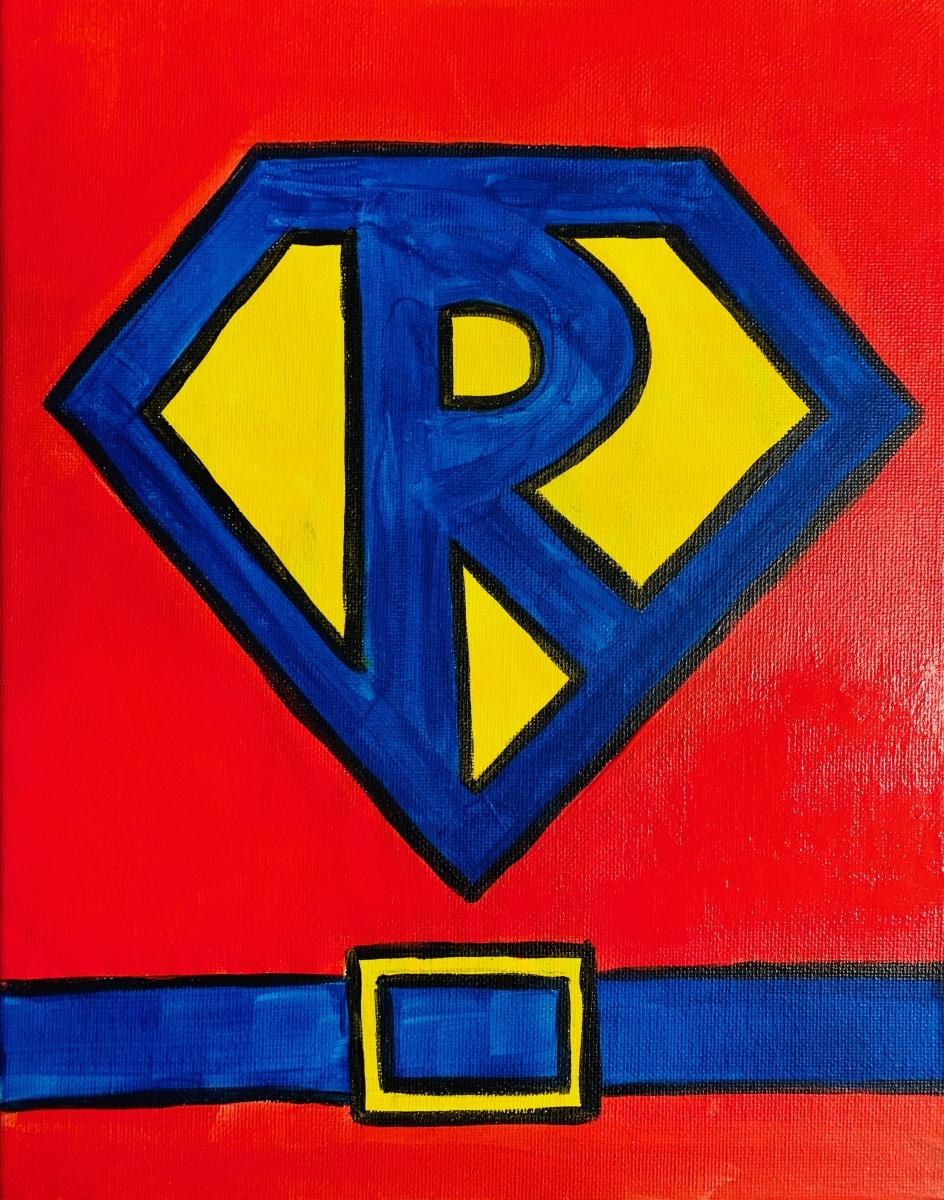 Superhero Painting